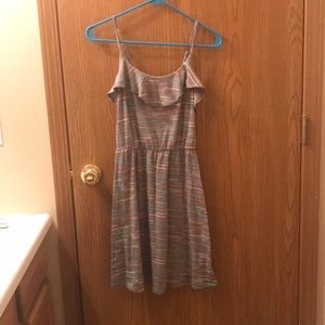 Mossimo Grey Patterned Dress